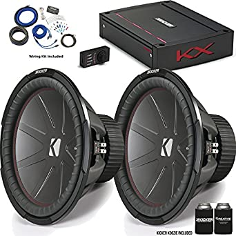 "Kicker 43 cwr152 15 ""compr Subwoofers con 44 kxa12001 kx-series Kit de"