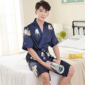 Mangeoo Summer Thin Couple Pajamas Sleeping Skirt Sexy Summer Manner Und Frauen Eis Und