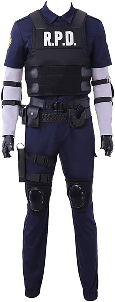 Resident Evil 2 Remake Biohazard Re:2 Leon Scott Kennedy Outfit Cosplay Costume