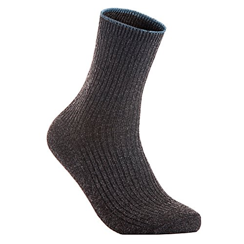 Lian LifeStyle Women's 1 Pair Cashmere Wool Crew Socks Casual Size 7-9(Dark - Sales Do Black Have Designer Friday Stores