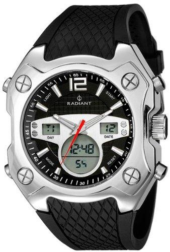 Radiant new rockstar reloj para Hombre Digital de Cuarzo con brazalete de Silicona RA156601: Amazon.es: Relojes