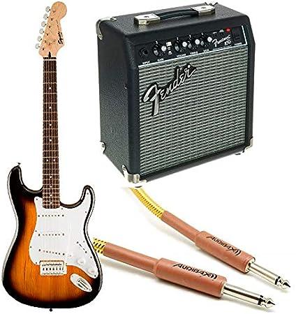 Fender Squier Bullet Stratocaster RW Sunburst + Frontman 10G + Cable: Amazon.es: Electrónica