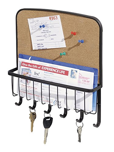 mDesign Mail, Letter Holder, Key Rack Organizer for Entryway