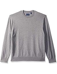 Men's Cotton Crewneck Long Sleeve Sweater
