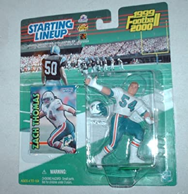 1999 Starting Lineup Zach Thomas Rookie Figure Miami Dolphins
