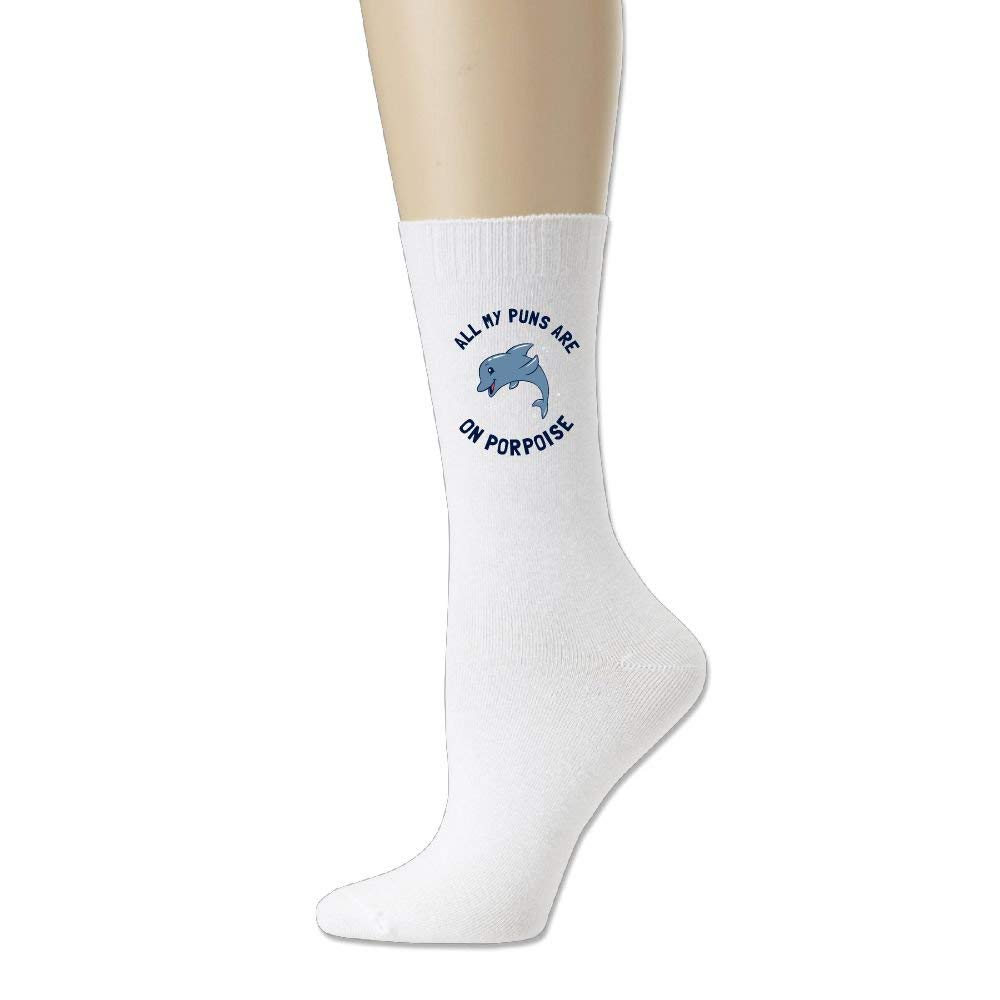 All My Puns Are On Porpoise Womens Pack Cotton Crew Socks