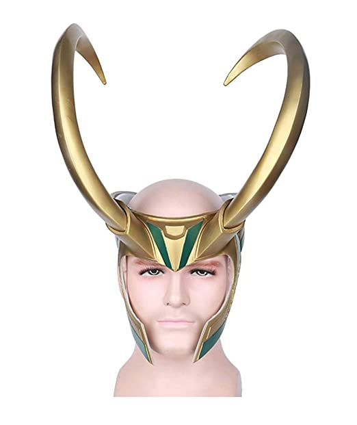 409358d366a Amazon.com: Yacn Loki Helmet with Horns,Norse God Loki Crown mask from Thor  Ragnarok for Halloween: Clothing