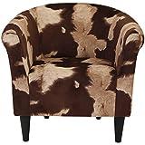 Parker Lane uch-mrl-pon5 Safari Club Chair, Cowhide Brown