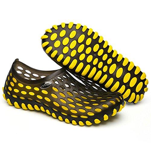 scarpe asciugatura Slipper rapida Bescita per traspirante sandali unisex Beach Yellow qfYxxU