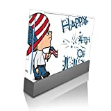 Cute Boy with American Flag Hat Happy 4th of July Quote Celebration Image Design Pattern Wii Console Vinyl Decal Sticker Skin by Trendy Accessories