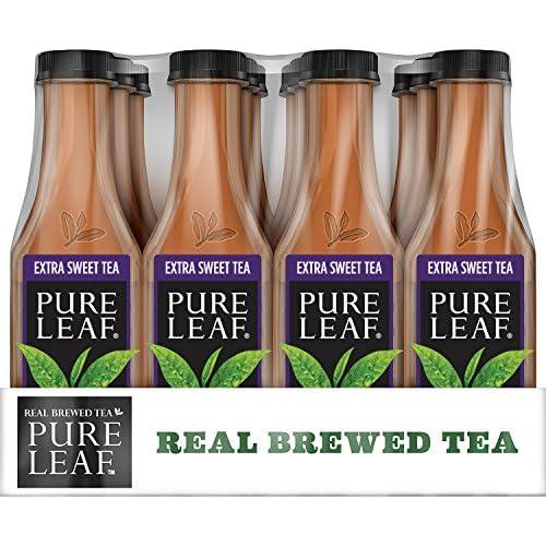 Pure Leaf Iced Tea, Extra Sweet, Real Brewed Black Tea, 18.5  Fl Oz Bottles (Pack of 12)