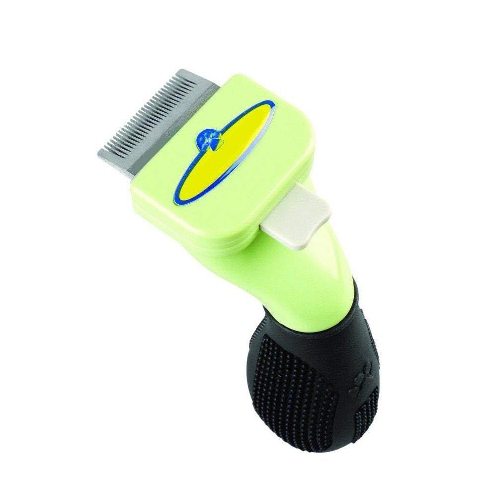 FidgetFidget Dog Brush DESHEDDING Tool for Large Dogs 1.7-4'' Blade Short Long Hair PB024XLShort Hair