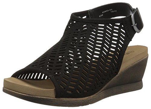 M BEARPAW Women's Black US Roxie 8 Sandal rqXSqa1