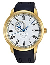 J. Springs Classic Automatic BEG003 - Men's Watch, Strap Leather Color Black