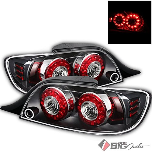 [For 2004-2008 RX-8 Black Housing LED Performance Tail Lights Rear Brake Lamps Pair Left+Right/2005 2006 2007] (Rx 8 Rear Brake)