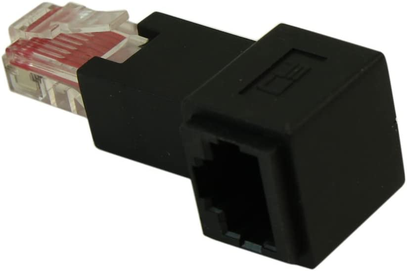 RJ45 CAT6 Ethernet RIGHT FACING Angle Adapter Male//Female
