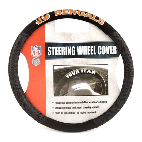 NFL Cincinnati Bengals Poly-Suede Steering Wheel - Mall Cincinnati