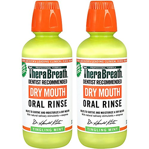 [TheraBreath Dentist Recommended Dry Mouth Oral Rinse - Tingling Mint Flavor, 16 Ounce (Pack of 2)] (Medications Dry Mouth)