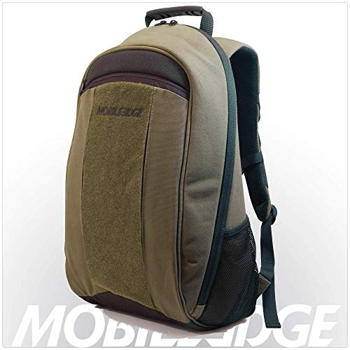 Mobile Edge 17.3 Inch Laptop, Mac Canvas Eco-Friendly Backpack Olive Green for Men or Women Business or Student MECBP9