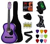 "YMC 38"" Purple gradient color Beginner Acoustic"