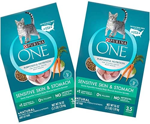 2 Bags of Purina ONE Sensitive Skin Stomach Dry Cat Food 3.5-lbs ea