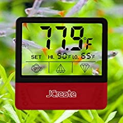 This Mini Digital Aquarium Thermometer comes with modern appearance and compact design, easy-to-read clear LCD Screen delivers accurate temperature readings for your Fish Tank. It is important for you to own it to keep your pet fish healthy, ...