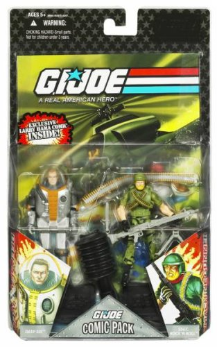 G.I. JOE Hasbro 25th Anniversary 3 3/4 Wave 7 Action Figures Comic Book 2Pack Rock N Roll Deep Six