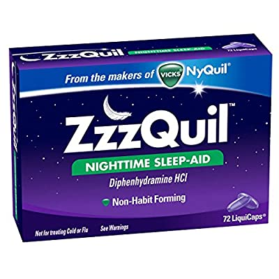 ZzzQuil Nighttime Sleep-Aid Liquicaps 72 Count