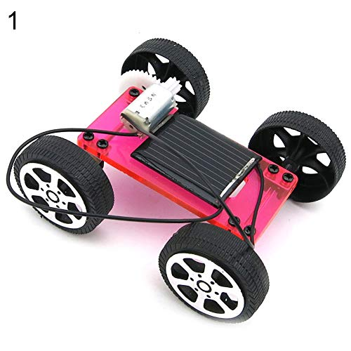 LBgrandspec DIY Toys Best Holiday/Birthday DIY Gift Idea for Your Small Kids Mini DIY Assembly Solar Panel Energy Car Vehicle Model Kids Educational Toy Discover The Fun of DIY Learning
