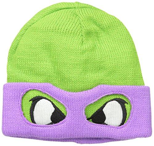 Animewild TMNT Teenage Mutant Ninja Turtle Purple Reversible Rolled Beanie Hat Cap]()