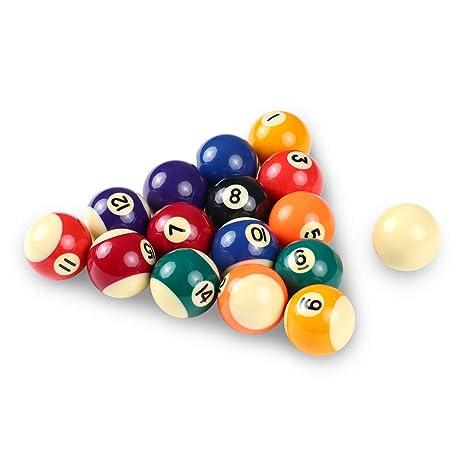 Phenomenal Lixada 25Mm 32Mm 38Mm Children Billiards Table Balls Set Resin Small Pool Cue Balls Full Set Home Interior And Landscaping Ponolsignezvosmurscom