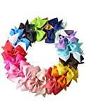 #1: dozenla 10pcs Girls Ribbon Bow Hair Clip Kids Alligator Clips Party Hair Accessories