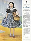 1987 Franklin Heirloom Dolls: Dorothy, Wizard of Oz, Franklin Mint Print Ad