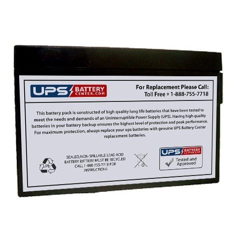 Replacement Battery 12V 2Ah Sealed Lead Acid, Tab Terminal