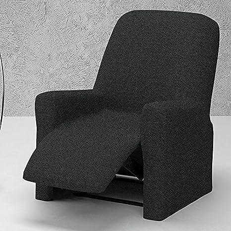 Funda de Sillón Relax Completo Bielástica Modelo PUEBLA, Color GRIS C/10, Medida 70-100cm