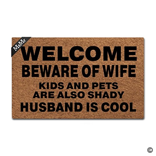 Top 10 best door mat welcome beware of wife 2020
