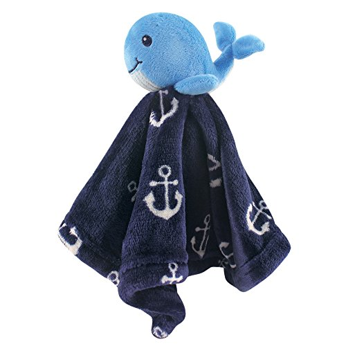 Hudson Baby Animal Friend Plushy Security Blanket, Boy Whale