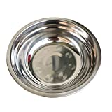 1pc Stainless Steel Size Soup Bowls Multi-function Round Pot Soup Plate Dishes Kitchen Tools (14cm)