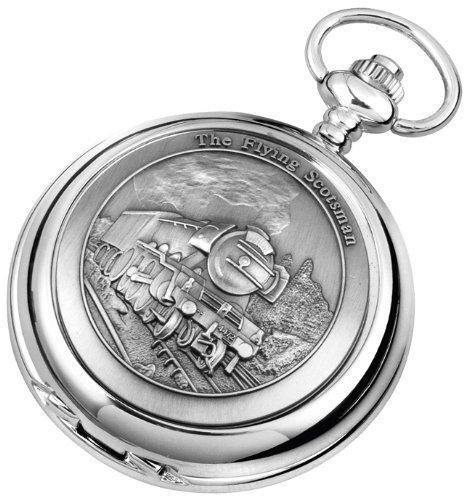 Woodford Men's Quartz Pocket Watch with White Dial Analogue Display 1940