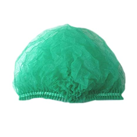 31a63b0f685 Image Unavailable. Image not available for. Color  Green Bouffant Caps ...