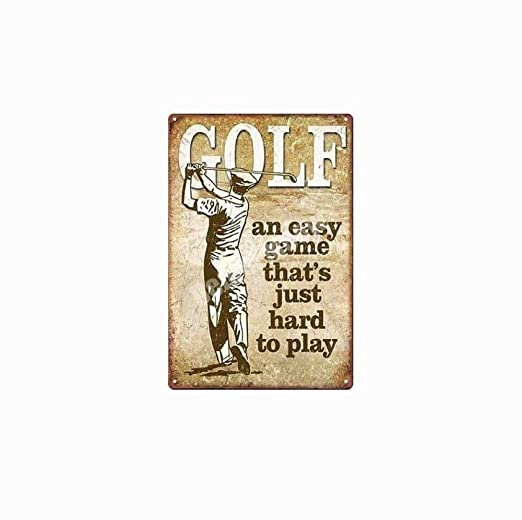 Carrito de Golf Estacionamiento Cartel Papá Golf Vintage ...