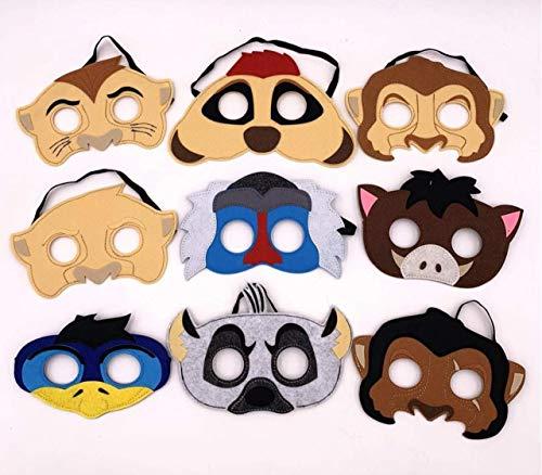 Lion King Inspired Masks Set of 9