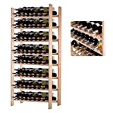 Pine Wood Wine Racks 120 Bottle Holder Storage Dining Room Kitchen Home Display Space-Efficient Storage Solid Construction Natural Finish #1805