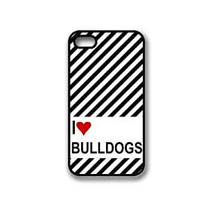 Love Heart Bulldog iPhone 4 Case - Fits iPhone 4 & iPhone 4S