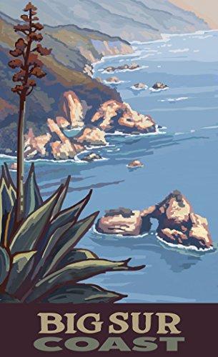 Northwest Art Mall PAL-5921 CL Big Sur California Coastline Print by Artist Paul A. Lanquist, 11