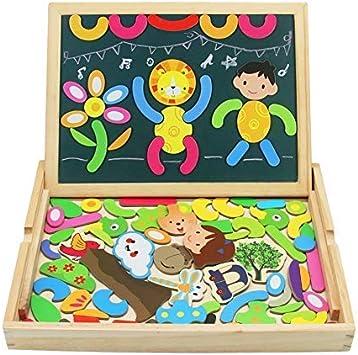 TONZE Pizarra Magnetico Puzzles Infantiles Madera Tablero de ...