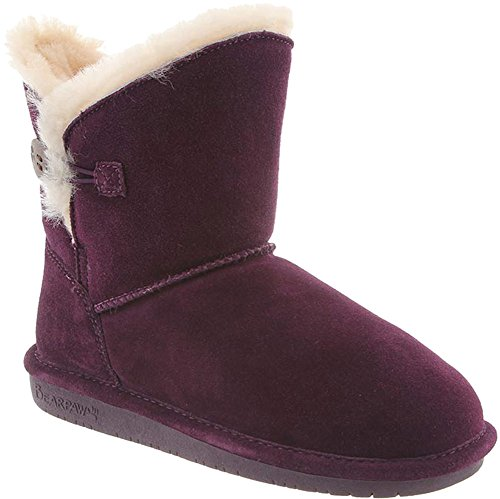 Review BEARPAW Womens Rosie Winter Boot, Plum, Size 11