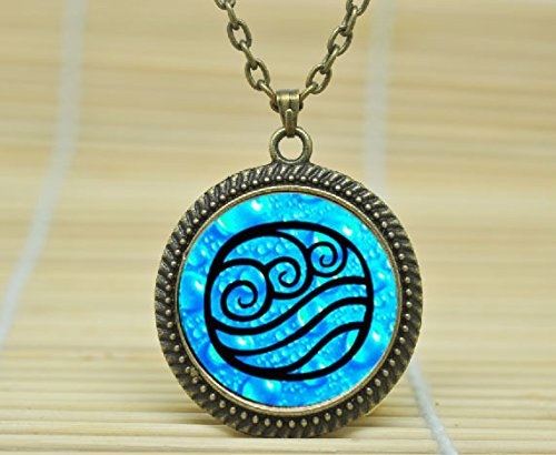 SunShine Day Fashion Necklace Avatar The Last Airbender Necklace Avatar Water Tribe Pendant Glass Cabochon Necklace A3692