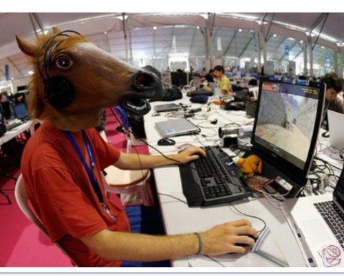 Bingsale Máscara de Caballo de Látex de Halloween Máscara de Completa Mask de Disfraces de Animales Caballo Cabeza de Caballo (Bronce): Amazon.es: Juguetes ...