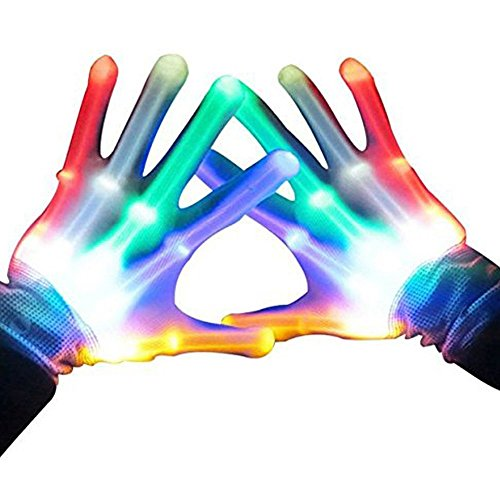 Gifts for Teen Girls, TOPTOY Flashing LED Gloves
